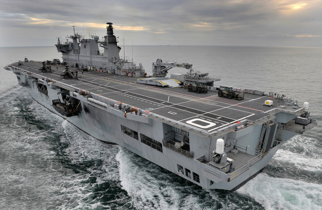 HMS Ocean Royal Navy Amphibious Helicopter