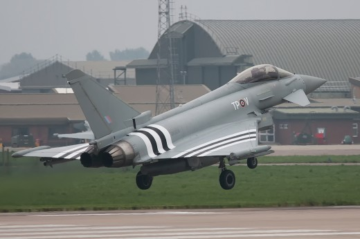 RAF Eurofighter Typhoon invasion stripes. Picture by kind permission of Daniel Kennedy