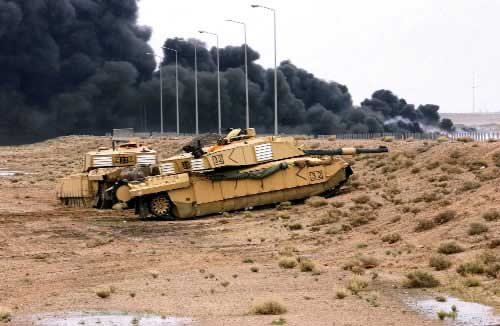 Challenger 2 hull down