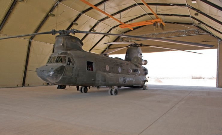 Chinook Rubb Shelter Canadian Forces Afghanistan