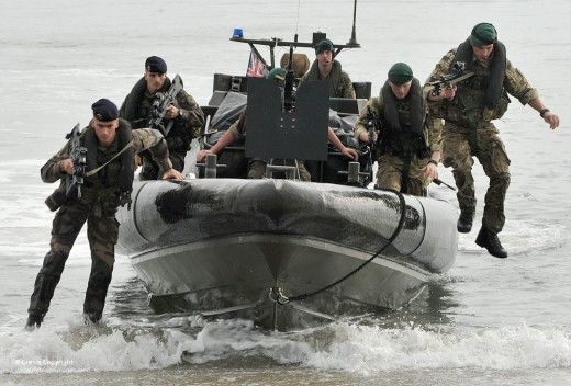 French and Royal Marines on Exercise Together