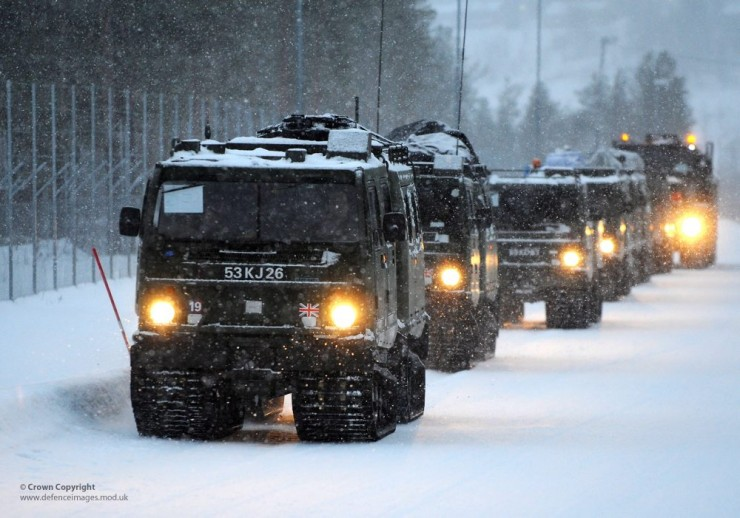 Hagglunds BV206 All Terrain Tracked Vehicles in Norway