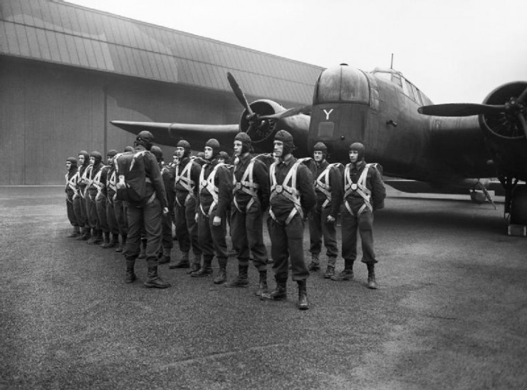 Paratroopers and Whitley at RAF Ringway Jan_1941 (Image Credit - IWM)