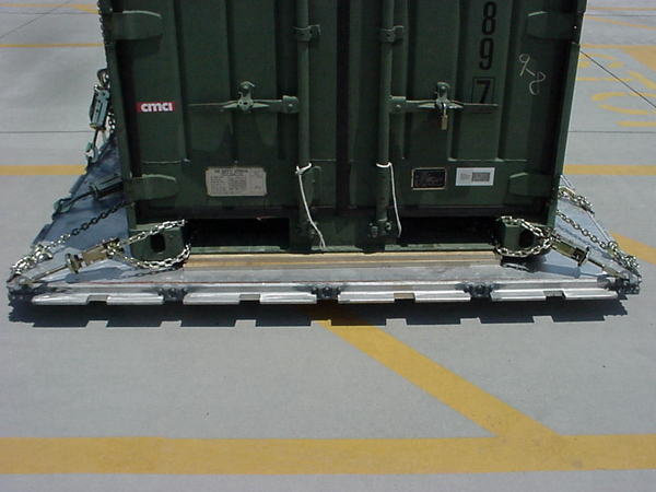 QUADCON Container secured to a 463L Pallet