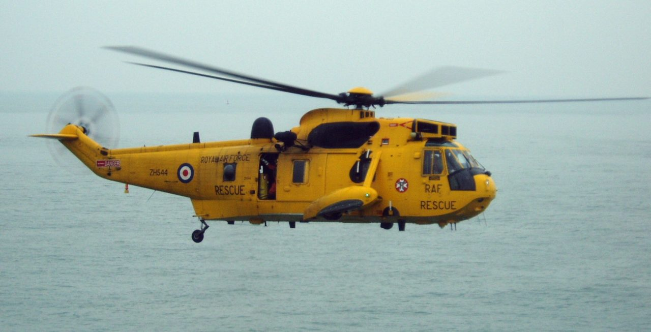 RAF Sea King Search and Rescue Helicopter