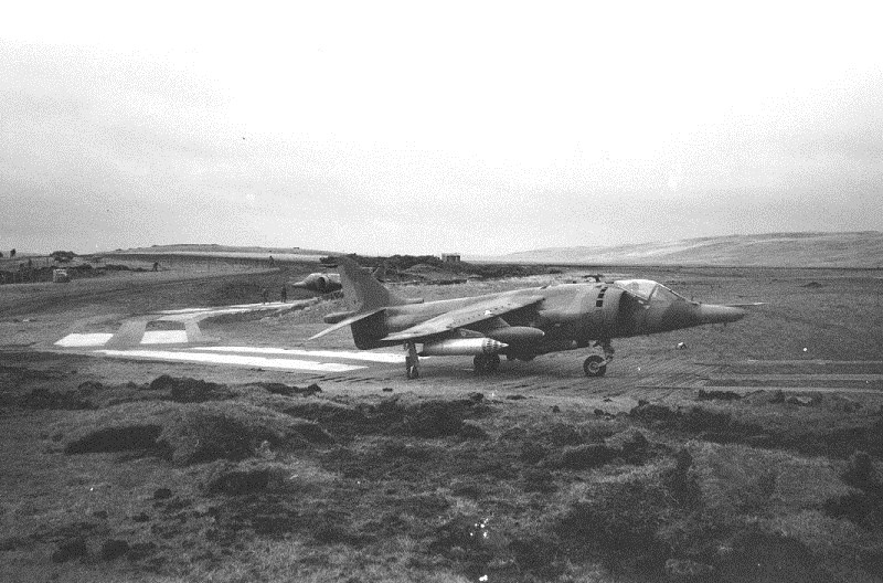 San Carlos FOB Falkland Islands - Harrier and Helicopter Operations
