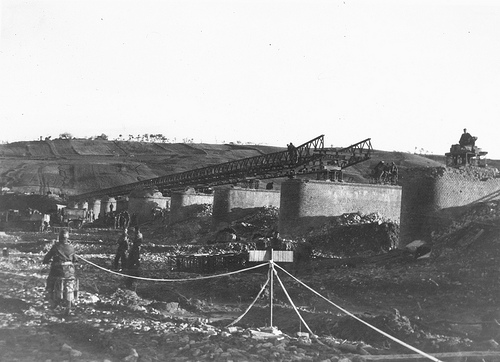 Sangro high level bridge under construction (by pk1920)