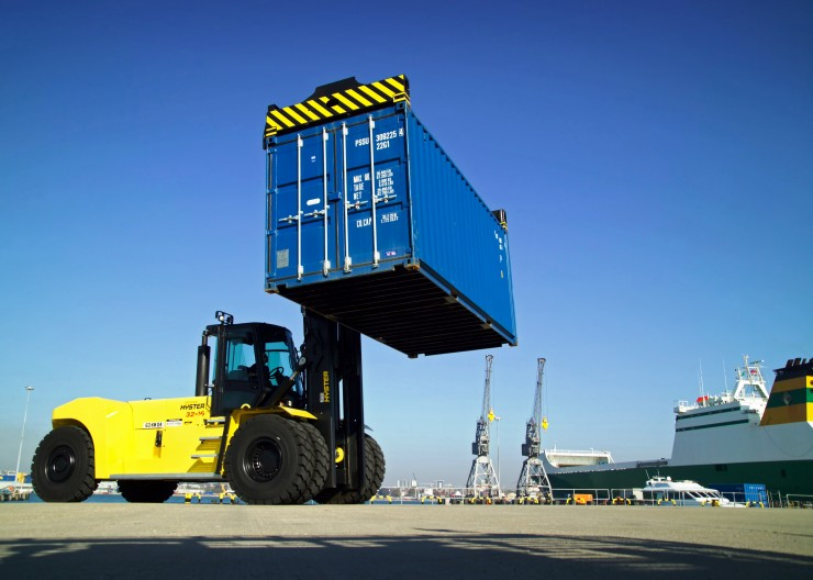 Marchwood MOD - Hyster Container Handler