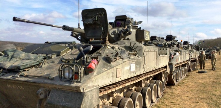 British Army Exercise Tractable - Combined Arms Demnonstration 10