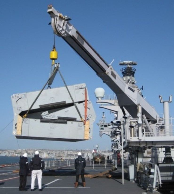 HMS Ocean Stern Ramp Support pontoon