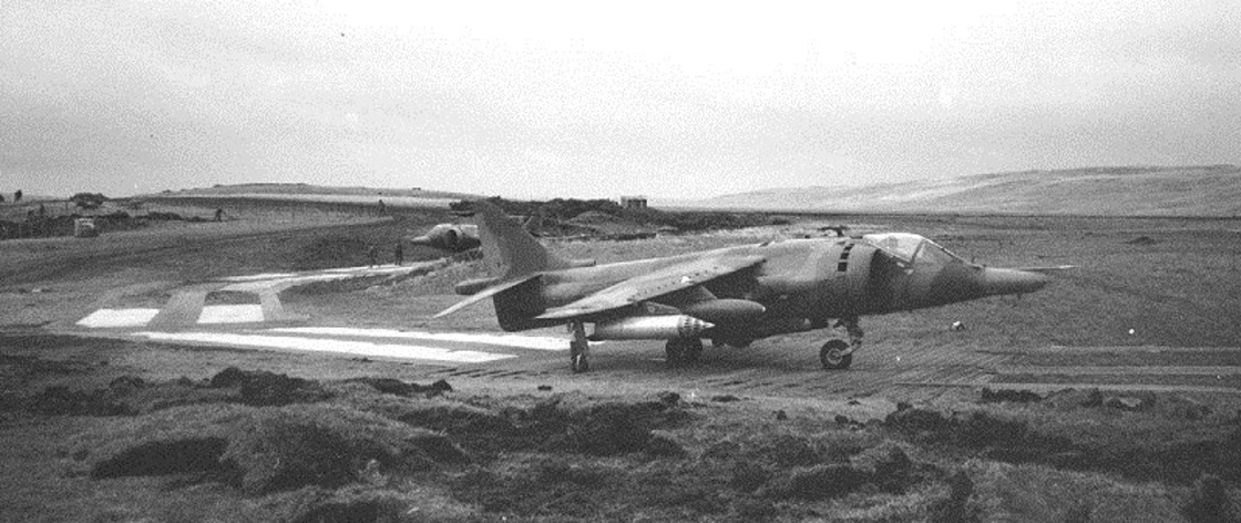 San Carlos FOB Falkland Islands - Harrier and Helicopter Operations 07