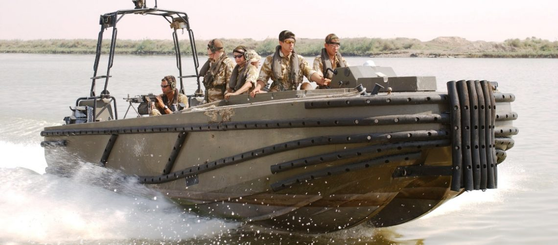 Pictured here are members of 38 Battery Royal Artillery as they carry out a routine patrol of the Shatt Al Arab to try and stop oil from being smuggled out of Iraq. [#Beginning of Shooting Data Section]Nikon D1X2003/08/04 16:40:52.3JPEG (8-bit) FineImage Size:  Large (3008 x 1960)ColorLens: 35-70mm f/2.8-2.8 DFocal Length: 48mmExposure Mode: ManualMetering Mode: Spot1/200 sec - f/7.1Exposure Comp.: 0 EVSensitivity: ISO 125White Balance: FlashAF Mode: AF-CTone Comp: NormalFlash Sync Mode: Not AttachedColor Mode: Mode I (sRGB)Hue Adjustment: 0°Sharpening: NormalNoise Reduction: Image Comment: [#End of Shooting Data Section]